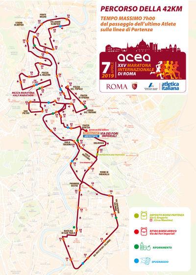 Percorso Maratona Roma