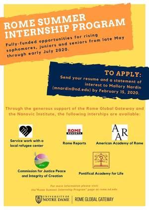 Rome Summer Internship Program 1